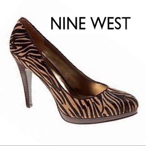 Nine West Rocha Cow Hair Tiger Stripe Heels